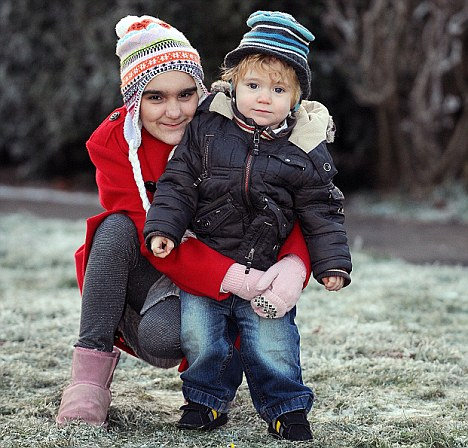 Life saver: Nine-year-old Megan Matthews, who suffers with Fanconi anaemia, has been given hope by her younger brother Max who was born specifically to provide stem cells to help treat her condition